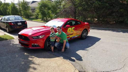 Playful Dad Creates 'Lightning McQueen' Car for 3-Year-Old