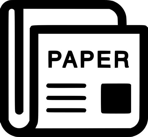 news paper magazine newspaper journal svg png icon