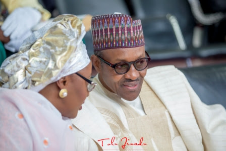 Image result for Aisha belongs in my kitchen and bedroom, says Buhari