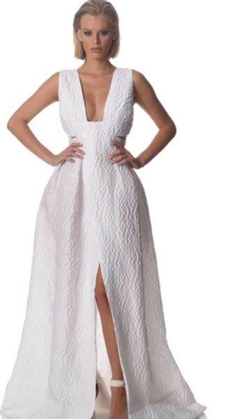 Alex Perry Alex Perry Adalene Cloque V Neck Gown New