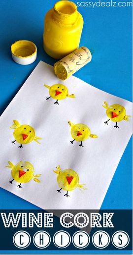 Wine Cork Chicks Craft for Kids #Easter craft for kids | http://www.sassydealz.com/2014/03/wine-cork-chicks-craft-kids.html