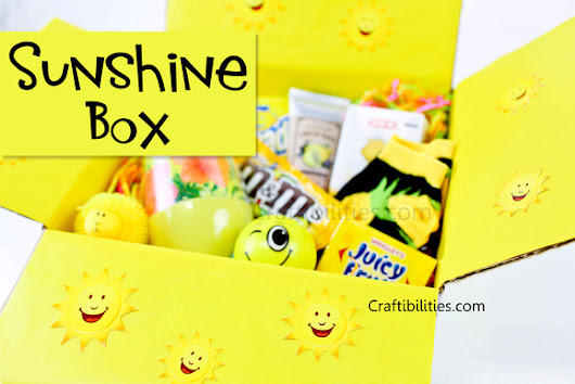 SUNSHINE box - Care Package - Brighten someones day - ALL YELLOW - gift, treats, candy