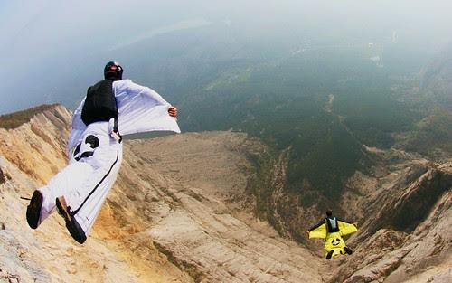 volar Wingsuit Base Jump