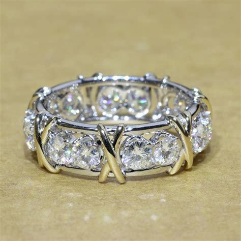 Queen Brilliance 5.5MM Wide Engagement Wedding Moissanite