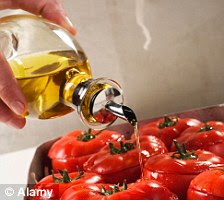 Tomatoes drizzled with olive oil
