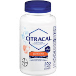 Citracal Calcium with Vitamin D Supplement; Bottle of 200
