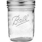 Ball 16oz 12pk Glass Wide Mouth Mason Jar with Lid and Band