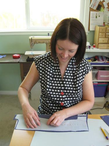 Karen hand stitching