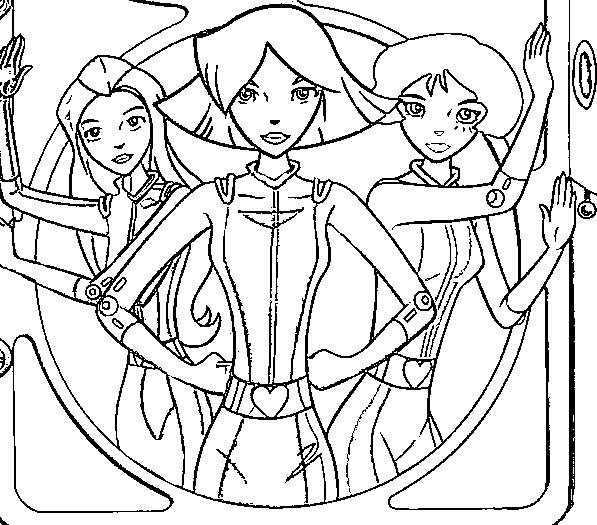 Totally Spies Coloring Pages Coloringpages1001com