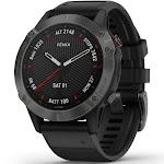 "Garmin Fenix 6 Sapphire 1.3"" GPS Watch, Carbon Gray/Black"