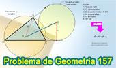 Problema de Geometría 157 (ESL): Triangulo, Distancia del Circuncentro a un Excentro en funcion del Circunradio y Exradio.