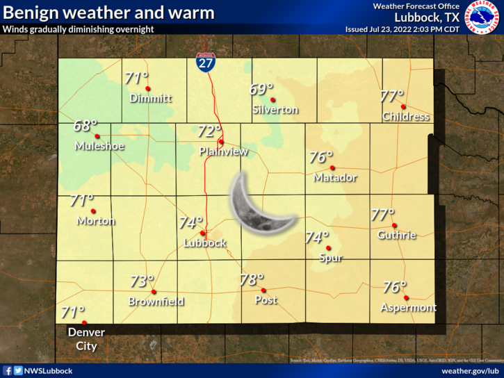 NWS Lubbock Regional Forecasts.