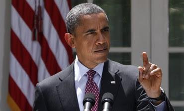 US President Obama at White House Rose Garden