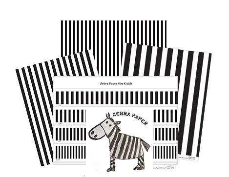 zebra spacing paper by pfot