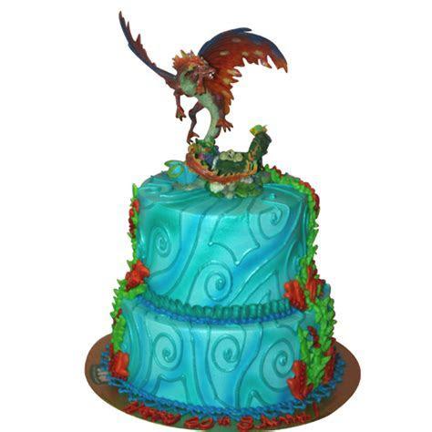 (1007) Tiered Dragon Cake   ABC Cake Shop & Bakery