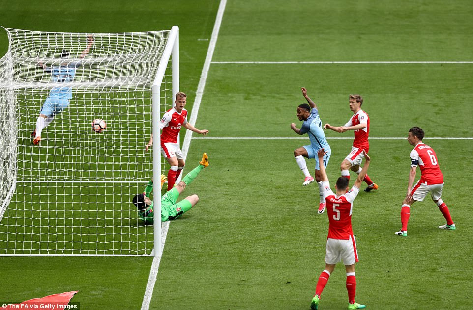 Raheem Sterling, on as a 23rd-minute replacement for David Silva, looked to have broken the deadlock from close-range