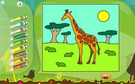 giraffe coloring page printables apps  kids