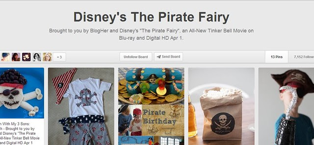 Disney's the Pirate Fairy Pinterest Board
