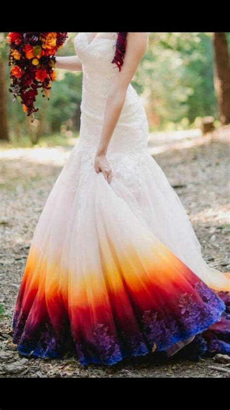 Dip Dyed Wedding Dress Bottom   ? Tie Dye, Dip Dye (Ombre