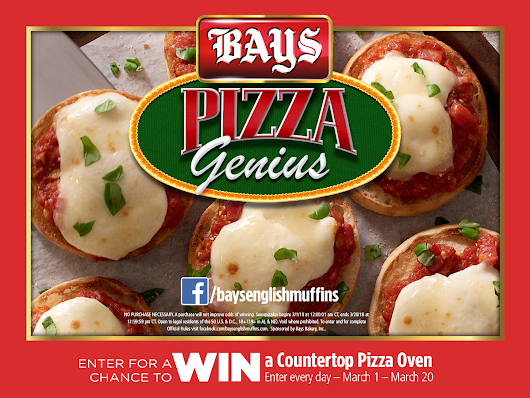 AD Love English Muffin Pizzas? Bays English Muffins Lets You Be A Pizza Genius! #baysmuffins Don't forget to enter their Pizza Genius Sweepstakes! #pizza #pizzamuffins #englishmuffinpizzas #sweeps #win