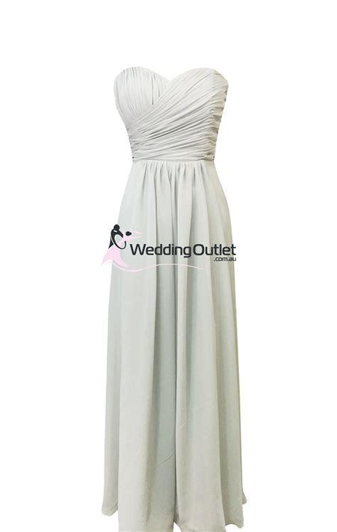 Light Grey Strapless Bridesmaid Dresses Style #AB101