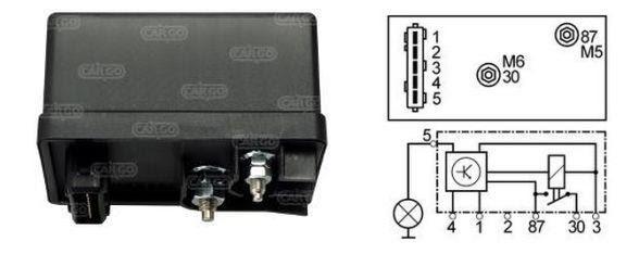 160434 GLOW PLUG HEATER CONTROLLER RELAY CITROEN FIAT ...