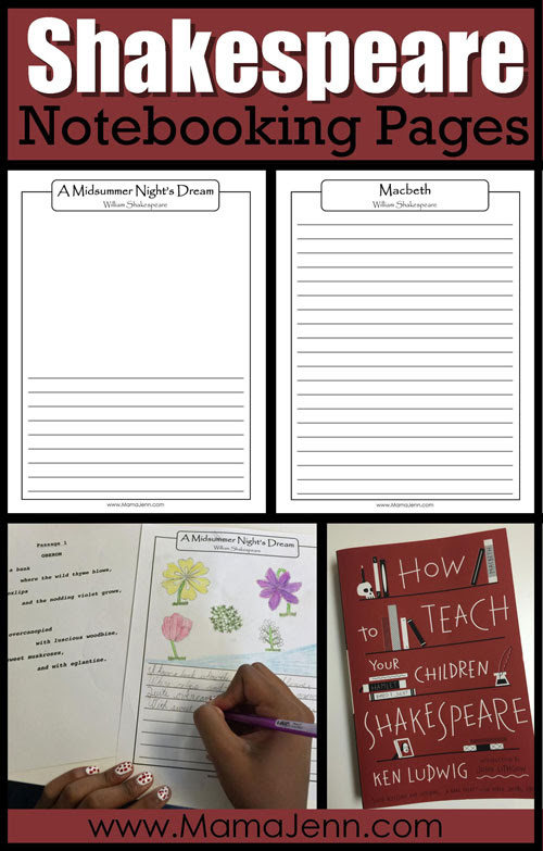 Shakespeare Notebooking Pages
