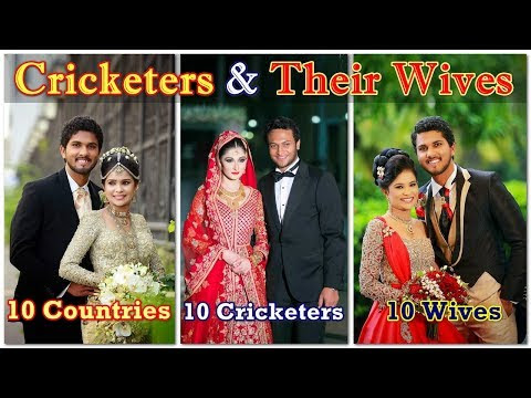 Top 10 Most Beautiful Wives of Cricketers || 10 Countries - 10 Cricketers - 10 Wives