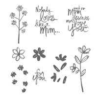Mum's Love Photopolymer Stamp Set