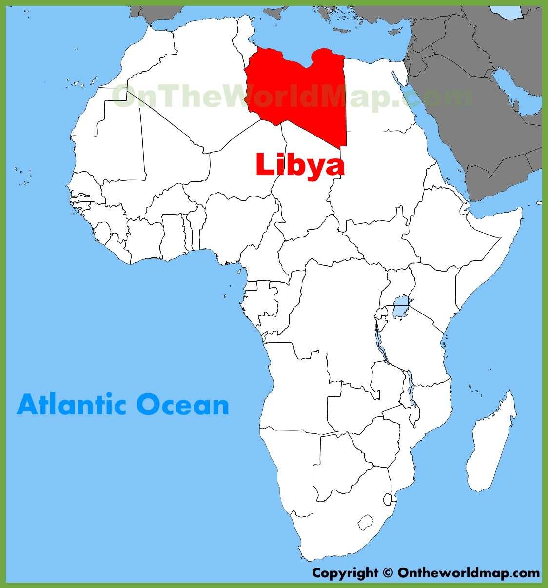 Libya On Map Of Africa Jungle Maps: Map Of Africa Libya