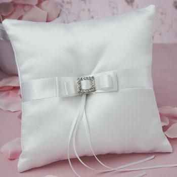 crystal elegance ring pillow