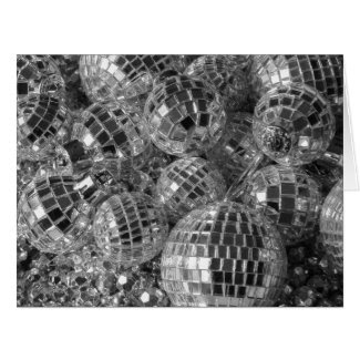 Disco Ball Ornaments Holiday Card