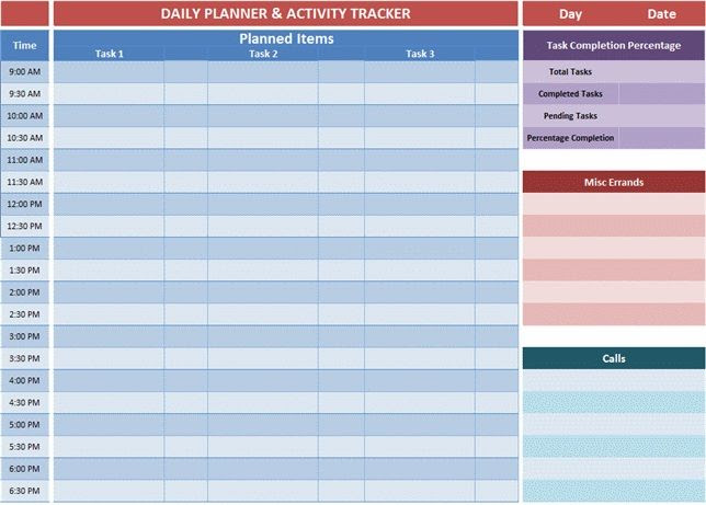 Weekly Planner Template Excel. Weekly Menu Template Excel Weekly ...