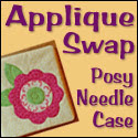 Applique Posy Needle Case Swap