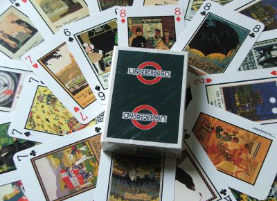 London Underground Art Poster Playing Cards