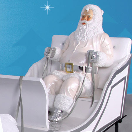 Sitting Snow Santa 5.5 ft scale