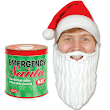 Emergency Santa Kit, A Can Filled With a Santa Hat & Inflatable Beard