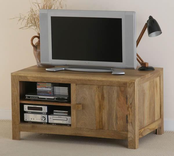 Mantis Light Solid Mango Widescreen TV / DVD / VCR Cabinet