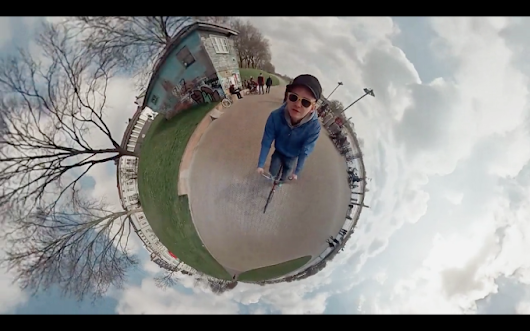 Awesome 360-Degree Bike Ride Timelapse Captured Using Six GoPro Cameras