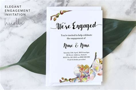 13  Engagement Invitation Templates   PSD, AI, EPS Format
