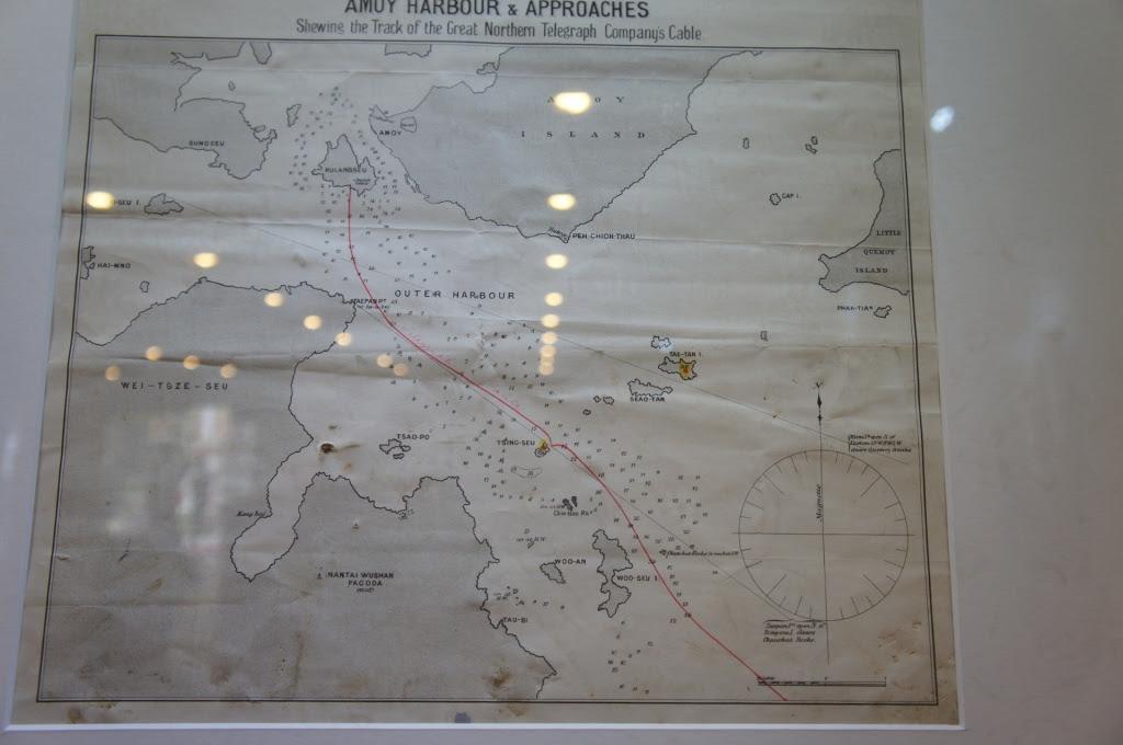 大北電信の海底ケーブル敷設図