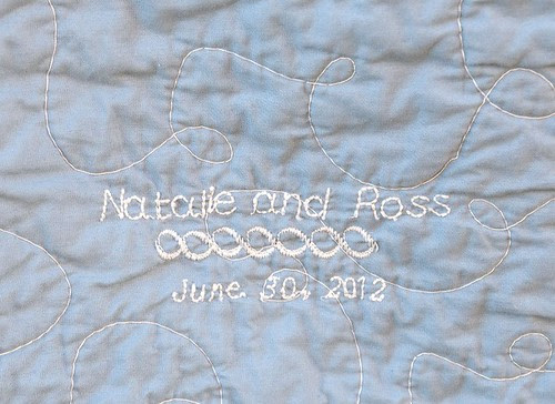 Melon Patch Wedding Quilt for Natalie and Ross