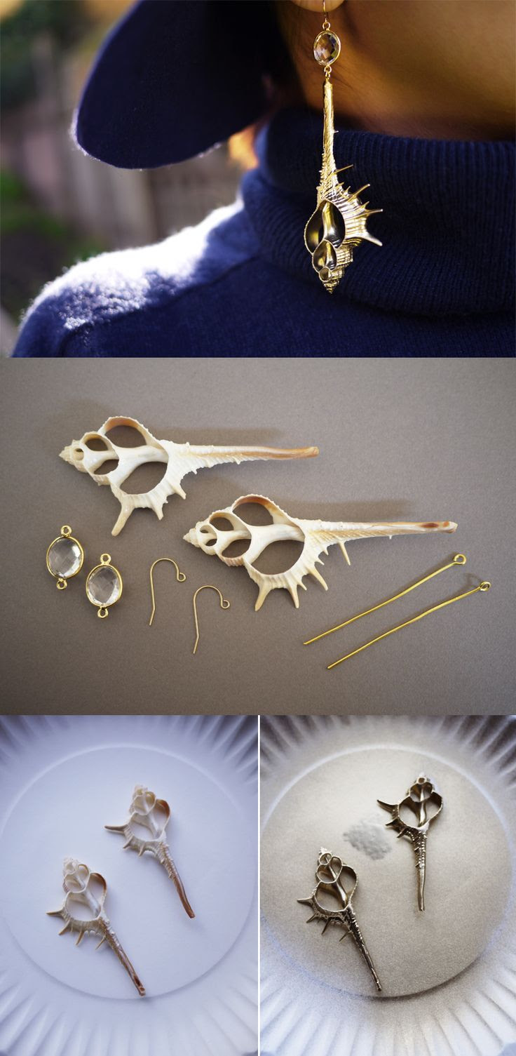 DIY Shell Earrings Tutorial