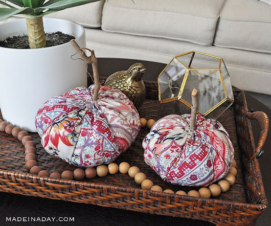 Funky Boho Fabric Pumpkins for Fall Decor