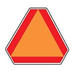 Hy-Ko TD-2 Vinyl Slow Moving Vehicle Emblem Decal