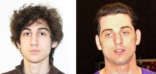 This combo of undated images released by the FBI (L) and the Boston Police Department (R) shows Marathon bombing suspect Dzhokhar Tsarnaev, who was the subject of an April 19, 2013 manhunt in the Boston area. Tamerlan was killed the day before. by Pan-African News Wire File Photos