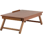 Winsome Anderson Lap Desk Flip Top with Drawer Foldable Legs