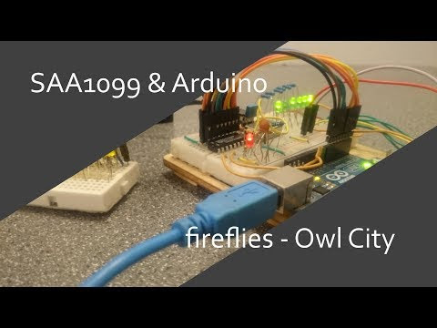 SAA1099 & Arduino - Fireflies - Owl City