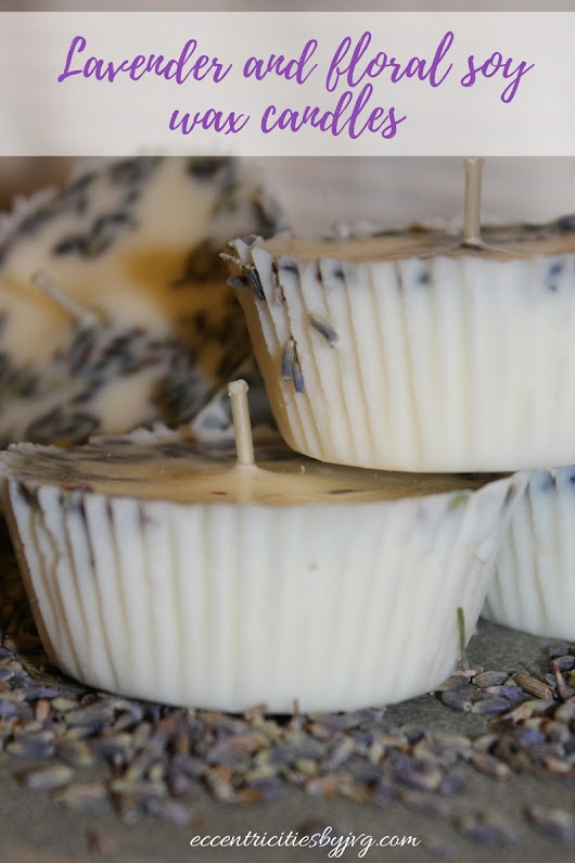 Lavender and floral soy wax candles - Eccentricities by JVG