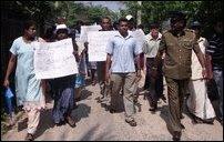 Jaffna picketing